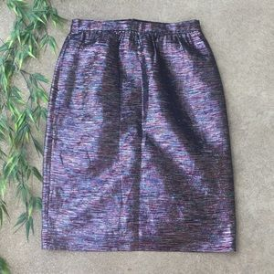 J. Crew Collection Metallic Pencil Skirt